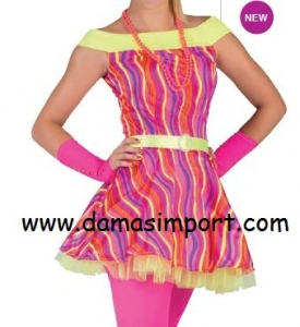 VESTITO CLOWN DONNA FLUO