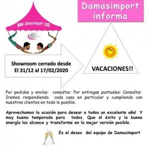 SHOWROOM CERRADO DEL 31/12 al 16/02 inclusive