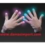 luz punta de los dedos